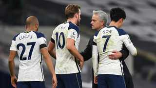 Tottenham Hotspur manager Jose Mourinho talked down his team's chances of being title contenders after a 2-0 win over Manchester City sent the North London club top of the Premier League. Photo: Neil Hall/Reuters
