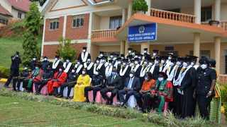 Seventy-six Uganda Police Force officers have graduated from a course in advanced policing skills. Picture: UPF