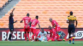 Chippa United players celebrates goal during the DStv Premiership 2020/21 match between Kaizer Chiefs and Chippa United at FNB Stadium in Johannesburg on the 28 April 2021 ©Muzi Ntombela/BackpagePix