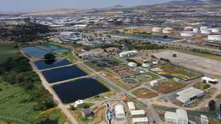 An aerial view of the Potsdam wastewater treatment works. PIcture: Supplied