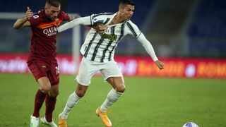 Juventus' Cristiano Ronaldo dribbles the ball against Roma. Picture: Reuters