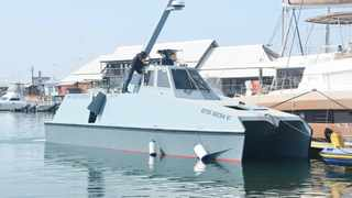 The new MN Centurion patrol boat made by South African weapons manufacturer Milkor will undergo its first speed test from Durban to Cape Town today. Picture: Clinton Wyness Wyness Distributors