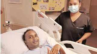 Dashen Perumal and nurse Nicole Govender