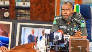 Nigerian Inspector General of Police Mohammed Abubakar Adamu says they have dissolved the Special Anti-robbery Squad with immediate effect, and training of a new police unit will commence next week. Picture: PoliceNG/Twitter
