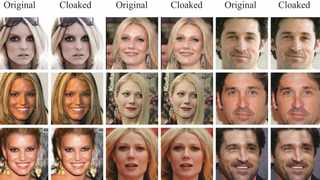Before and after photographs of, from left, Jessica Simpson, Gwyneth Paltrow and Patrick Dempsey that were cloaked by the Fawkes team.Credit...SAND Lab, University of Chicago