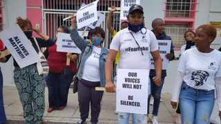 Cosas, together with the school's parents committee, picketed and called for immediate dismissal and arrest of Devine Heritage Christian College principal. Picture: Sisonke Mlamla/Cape Argus
