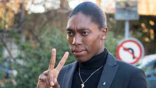 """Today I stand with Caster Semenya against these racist and discriminatory regulations introduced by World Athletics."" File photo: Laurent Gillieron/Keystone via AP."