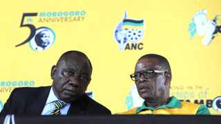 ANC president Cyril Ramaphosa and secretary-general Ace Magashule File picture:: Itumeleng English/African News Agency (ANA)