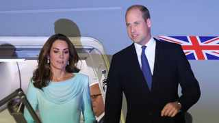 File photo: Britain's Prince William and his wife Kate arrived at Nur Khan base in Islamabad, Pakistan. Picture: AP