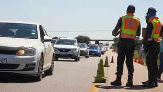 The Road Traffic Management Corporation and Gauteng Traffic Police conducted a massive roadblock on the N1 yesterday. MEC Jacob Mamabolo was also present. Picture: Jacques Naude African News Agency (ANA)
