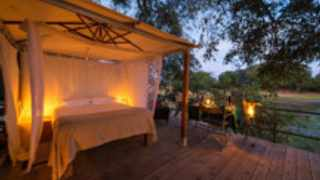 Ruckomechi Camp in the Mana Pools National Park in Northern Zimbabwe has a renowned sleep-out deck known for its incredible animal sightings.