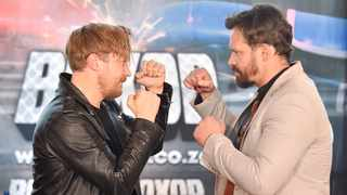 Musician Francois van Coke and retired rugby player Derick Hougaard will participate in a celebrity boxing match at Time Square, Menlyn Maine. Picture: Thobile Mathonsi African News Agency (ANA)