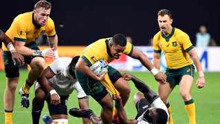 After James Slipper's injury has opened the door for Scott Sio to make his first start for the Wallabies since last year's World Cup. Picture: William West/AFP
