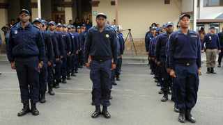 Cape Town- 180912 Premier Helen Zille visited the Metro Police Training Academy where 71 Rail Enforcement Officers are currently being trained on rail commuter safety and rail infrastructure protection Metro Police Training Academy Corner of Station and Main Road Observatory Picture:Ayanda Ndamane/ African News Agency ANA
