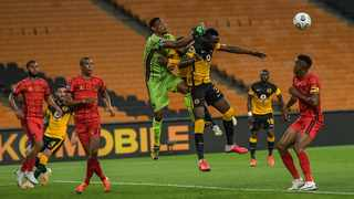 Wensten Van Der Linde of TS Galaxy and Erick Mathoho of Kaizer Chiefs during the DStv Premiership 2020/21 game between Kaizer Chiefs v TS Galaxy at FNB Stadium in Johannesburg on 4 November 2020. Photo: Christiaan Kotze/BackpagePix