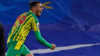 West Bromwich Albion's Karlan Ahearne-Grant celebrates after scoring their equalising goal in their Premier League game against Brighton & Hove Albion. Photo: Andrew Couldridge/Reuters