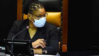 Speaker of the National Assembly Thandi Modise during a debate on October 21 on the economic recovery plan which was tabled by President Cyril Ramaphosa the week before. Photograph: Phando Jikelo/African News Agency (ANA)