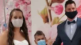 A Knysna coupled tied the knot at the Melomed Hospital in Tokai after the bride's father was diagnosed with a terminal illness. Picture: Robin-Lee Francke/African News Agency (ANA)