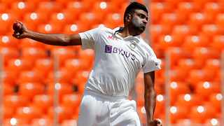 India's Ravichandran Ashwin bowls during their fourth Test against England. Photo: Amit Dave/Reuters