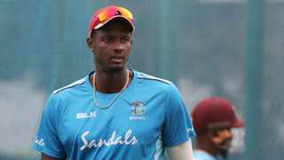 West Indies captain Jason Holder during a training session. Photo: IANS