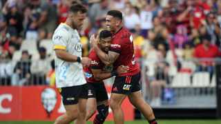 The Crusaders put on a ruthless display to pick up a bonus point 33-16 victory over Hurricanes to maintain their winning start to Super Rugby Aotearoa at Christchurch Stadium. Photo: @CrusadersRugby via Twitter