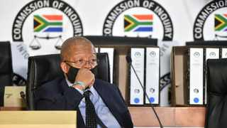 Head of Department (HOD) Human Settlements in the Free State Provincial Government Nthimotse Mokhesi, appears before the Zondo commission in Braamfontein. Picture: Itumeleng English/African News Agency(ANA)