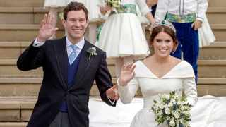 Princess Eugenie and Jack Brooksbank leave St George's Chapel in Windsor Castle following their wedding in 2018. File picture: Steve Parsons/Pool via Reuters