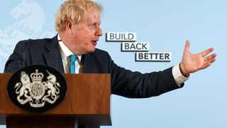 British Prime Minister Boris Johnson is facing growing anger within his own Conservative Party over the most severe restrictions in peacetime history that are destroying swathes of the economy. Picture: Finnbarr Webster/Pool via Rreuters