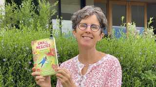 Bridget Krone with her children's book Small Mercies