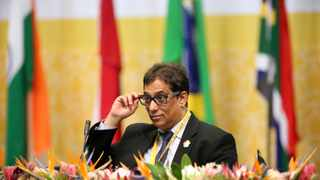 Outgoing Chairman of the BRICS Business Council Dr Iqbal Survé addressing delegates at the BRICS Business Council Annual Meeting 2018 held in Durban in July. PHOTO: Motshwari Mofokeng/African News Agency/ANA