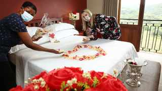 Getting ready to help make romantic memories are Eagle's View housekeeper Patsy Sibiya and manager Petro Grobler. Accommodation at Eagle's View is one of the Valentine's Day romance packages up for grabs.