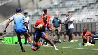 Damian Willemse of the Stormers runs at Tristan Leyds during the Stormers training session at Cape Town Stadium. Photo: Ryan Wilkisky/BackpagePix