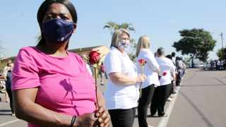 Residents of Queensburgh and Malvern bade farewell on Monday to a beloved Malvern SAPS crime prevention unit member, Warrant Officer Anton Laas. Picture: Motshwari Mofokeng/African News Agency (ANA)