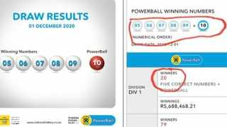 Tuesday's Powerball winning numbers have created controversy but Ithuba maintains the lottery on the night was not rigged.