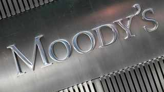 A sign for Moody's Corp. in New York. Picture: Mark Lennihan/AP