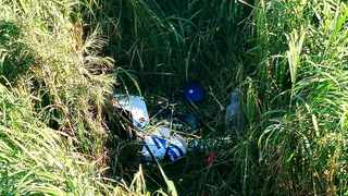 Two people, believed to be in their twenties, died in a helicopter crash in Durban on Monday morning. Picture: Garrith Jamieson