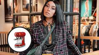 Fashion influencer Sarah Langa had a few choice words while speaking about a certain appliance manufacturer this week. Picture: @sarahlanga/Instagram and supplied