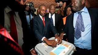 MDC Alliance president Nelson Chamisa casts his vote at Kuwadzana 2 in Harare, Zimbabwe, on Monday. Picture: Matthews Baloyi/African News Agency (ANA)