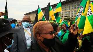 ANC Secretary General Ace Magashule celebrating ANC Charlotte 150th birthday with the ANC women's league in Kliptown. Photo: Simphiwe Mbokazi/African News Agency(ANA)