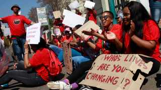 Nupsaw members march in Pretoria demanding improved wages. Picture: Jacques Naude/African News Agency/ANA