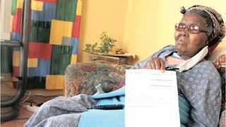 An 82-year-old pensioner, Jabulile Ngcobo who has received two letters of final demand from Sars for an amount of R11 222.