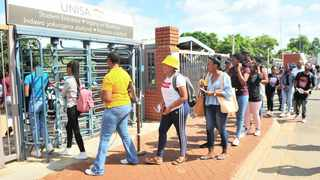 Unisa students queue to register at the university in January. Picture: Bongani Shilubane/African News Agency (ANA)