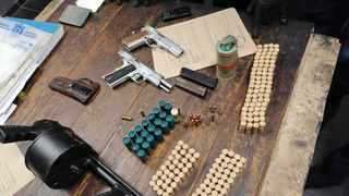 A shotgun, pistols, ammunition and mandrax tables were confiscated from a Wentworth during a recent police operation. Picture: Supplied