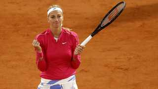 Petra Kvitova of the Czech Republic celebrates a point during her 4th round match against Zhang Shuai China at the French Open tennis tournament at Roland Garros in Paris, France, 05 October 2020. Photo: IAn Langsdon/EPA