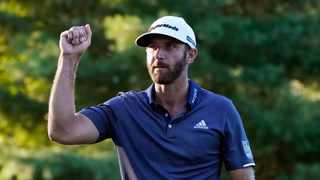 Dustin Johnson continued his red hot play at Northern Trust Open and has a five shot cushion going into the final round of the FedExCup playoffs opener. Photo: Charles Krupa/AP
