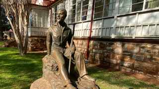 A Maquette of Smuts, the mountaineer, stands in the garden of the Smuts House Museum on Doornkloof Farm in Irene. Picture: Kevin Ritchie