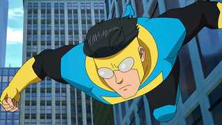 Actor Steven Yeun is the voice of the titular character in 'Invincible,' an Amazon animated series based on the comics created by Robert Kirkman and Cory Walker. Picture: Amazon Prime Video.