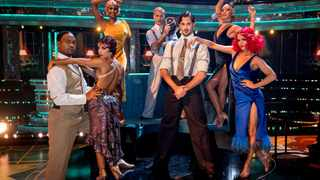 Johannes Radebe (left) and Oti Mabuse (top left) among the other professional dancers in season 18 of Strictly Come Dancing UK. Picture: Guy Levy.