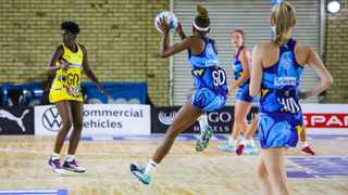 The Jaguars in action against the Free State Crinums on Monday. Photo: @Netball_SA on twitter