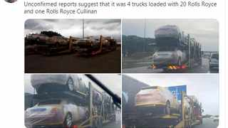 Independent Media investigative journalist Mzilikazi wa Africa posted a thread on Twitter showing four trucks packed with the new cars.